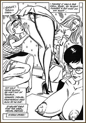 Vintage erotic drwaings lesbians 6